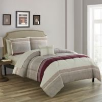 Nile 12-Piece Reversible California King Comforter Set in Brick