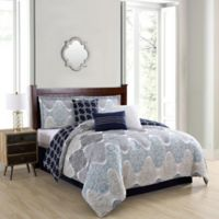 Caspian 7-Piece Queen Comforter Set in Taupe
