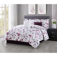 Carmela Home Graceview 7-Piece Reversible Queen Comforter Set in Burgundy