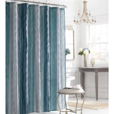 Manor Hill Sierra 54 Inch X 78 Shower Curtain In Blue
