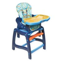 Badger Basket Envee Convertible 2-in-1 High Chair in Blue/Orange