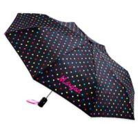 totes® Polka Dot Umbrella in Black