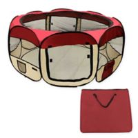 45-Inch Pop-Up Pet Playpen in Burgundy