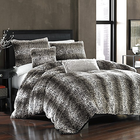Persian Leopard Faux Fur Duvet Cover Bed Bath Amp Beyond