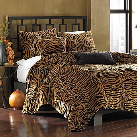 Bengal Tiger Faux Fur Duvet Cover Set Bed Bath Amp Beyond