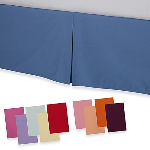 smoothweave™ tailored bed skirt - bed bath & beyond