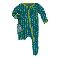 KicKee Pants® Newborn Oasis Worms Footie in Blue