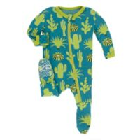 KicKee Pants® Size 18M Seagrass Cactus Footie in Blue