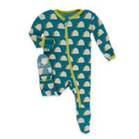 Kickee Pants® Size 18M Seagrass Taco Footie in Blue