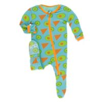 KicKee Pants® Size 3-6M Avocado Chip Lime Footie in Blue