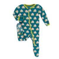 Kickee Pants® Newborn Seagrass Taco Footie in Blue