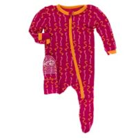 KicKee Pants® Size 24M Rhododendron Worms Footie in Red