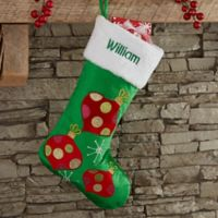Festive Ornament Personalized Christmas Stocking
