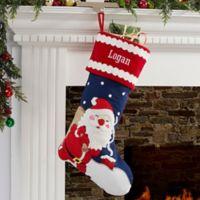 Joyful Santa Personalized Christmas Stocking