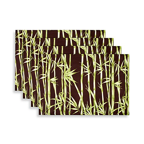 Park B. Smith® Watershed® Bamboo Garden Placemats in Coffeebean (Set of 4)
