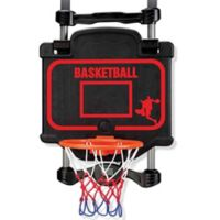 2-in-1 Over the Door Basketball and Boxing Combo with Black Backboard