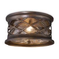 ELK Lighting Barrington Gate 2-Light Outdoor Flush Mount in Hazelnut Bronze