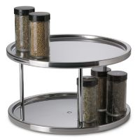 Stainless Steel Two-Tier Turntable