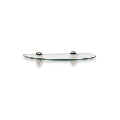John Sterling 8-Inch x 12-Inch Decorative Semi-Circle Glass Shelf ...