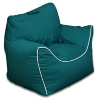 Acessentials® Polyester Upholstered Bean Bag Chair Bean Bag Chair in Green b0c1f6bdec