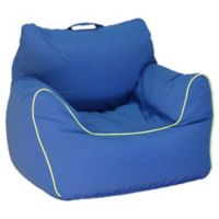 Acessentials® Polyester Upholstered Bean Bag Chair Bean Bag Chair in Blue