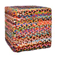 Decor Therapy® Cotton Denton Pouf Ottoman
