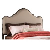 Hillsdale Furniture Delray Queen Upholstered Headboard and Frame in Stone