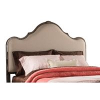 Hillsdale Furniture Delray Queen Upholstered Headboard in Stone
