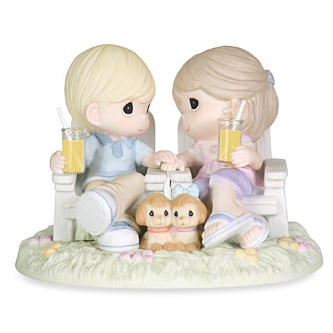 Precious Moments 174 Always Be By My Side Porcelain Figurine