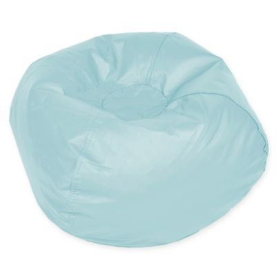 Acessentials® Polyester Upholstered Round Bean Bag Bean Bag Chair In Baby  Blue