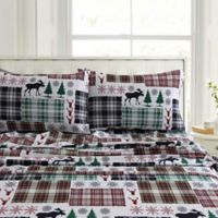 Tribeca Living Patchwork Plaid 200-Thread-Count Deep-Pocket Sheet Set in White