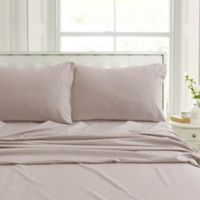 Tribeca Living Flannel 200-Thread-Count Deep-Pocket Queen Sheet Set in Oatmeal