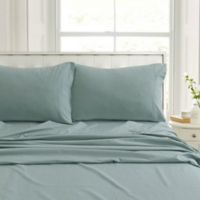 Tribeca Living Flannel 200-Thread-Count Deep-Pocket King Sheet Set in Green