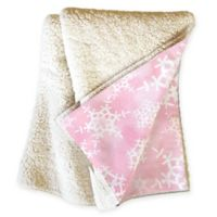 Deny Designs Flurries Sherpa Throw Blanket in Pink