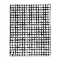 Deny Designs Buffalo Throw Blanket in Black/White