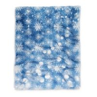 Deny Designs Holiday Flurries Throw Blanket in Blue