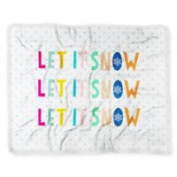 Deny Designs Let it Snow Polka Dots Throw Blanket