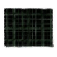 Deny Designs Plaid Throw Blanket in Green/Black