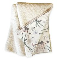 Deny Designs Squirrel Christmas Throw Blanket in Beige