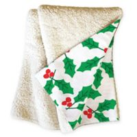 Deny Designs Holly Day Sherpa Throw Blanket in Green