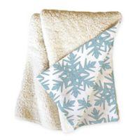 Deny Designs Snowflake Throw Blanket in Blue