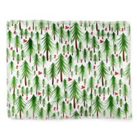 Deny Designs Christmas Tree Farm Throw Blanket in Green