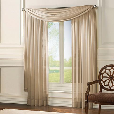 Classic Chiffon Window Curtain Panel And Scarf Valance