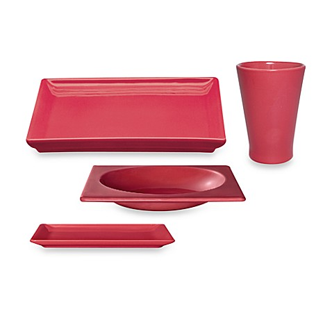 Emile Henry 4-Piece Place Setting in Raspberry