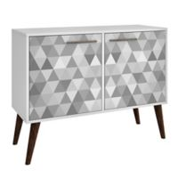 Manhattan Comfort™ Avesta 3.0 Side Table in White/Grey