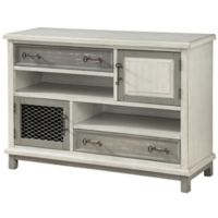 Coast to Coast Imports Newcastle 2-Door/2-Drawer Media Credenza in Grey
