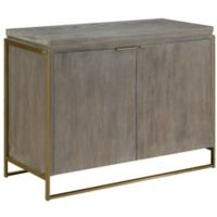 Coast to Coast Imports Dooley 2-Door Cabinet in Grey/Gold