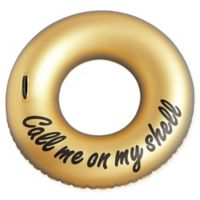 OVE Decors Ring Call Me On My Shell Phone Pool Float in Gold