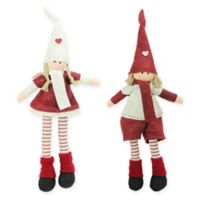 Northlight Christmas Dolls in Red (Set of 2)