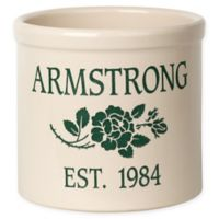 Rose Stem I Stoneware Crock in Green